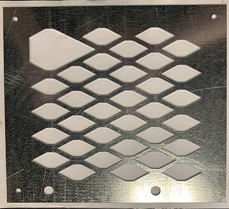 Laser cut galvanized metal