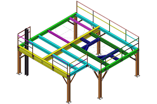 Mezzanine design technical drawing