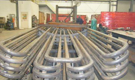 Heat exchanger pipe coil top view