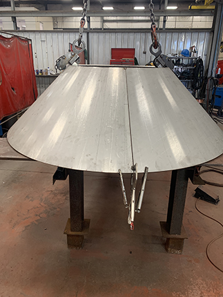 Stainless steel bump formed cone