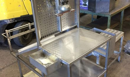 Stainless steel custom supply cart
