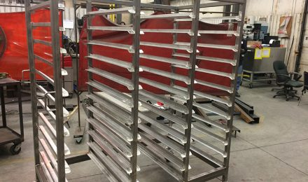 Stainless steel custom bakery racks